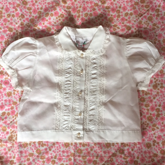 Hickory Dickory Other - PoshMini Silky White Lace Blouse